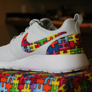 Autism Speaks Nike Roshe Run Pure Platinum - 10% of all profit goes to AutismSpeaks