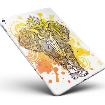 "Bright Orange Ethnic Elephant Full Body Skin for the iPad Pro (12.9"" or 9.7"" available)"