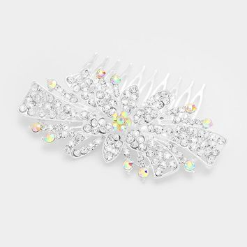 Pave Crystal Starburst Celebration Hair Comb