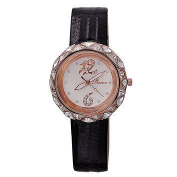 Trendy New Arrival Gift Awesome Designer's Good Price Great Deal Stylish Dial Ladies Leather Watch [4919937732]