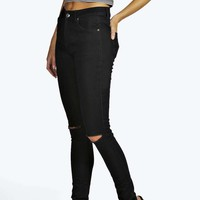 "Mollie Longer Leg 34"" Ripped Knee Skinny Jeans"