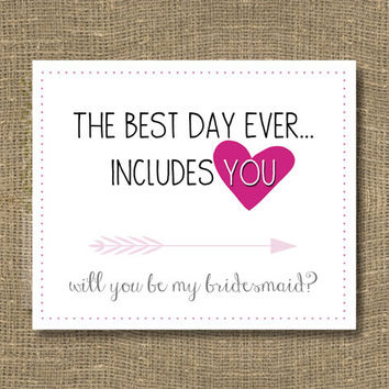 How to Ask Bridesmaid / Will You Be My Bridesmaid Funny / Will You Be My Maid of Honor - Cards