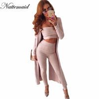 Sexy rompers womens jumpsuit Two piece set Strapless Suede Body Suit Long Pants Jumpsuit 2016 pink outfits combinaison femme
