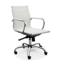 White Mesh Mid Back Modern Ergonomic Swivel Office Computer Chair
