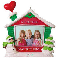 Grandkids Rule! Picture Frame Ornament