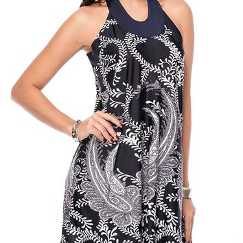 Streetstyle  Casual Loose Paisley Printed Shift Dress