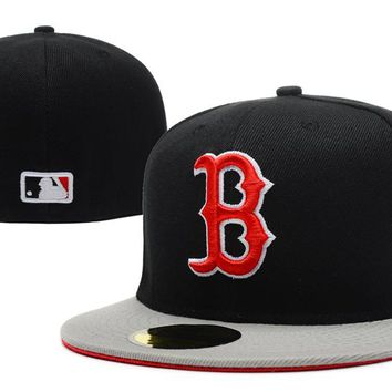 Boston Red Sox New Era MLB Authentic Collection 59FIFTY Caps Blue-Red