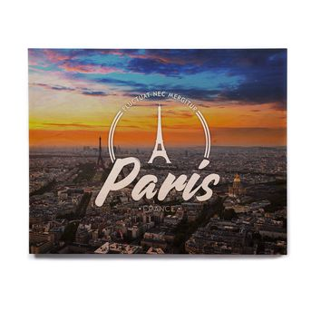 "Kess Original ""Paris"" Blue Travel Birchwood Wall Art"