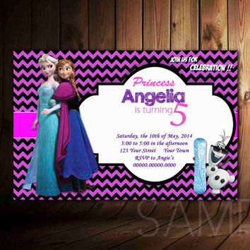 Disney Frozen Invitation Design For Birthday Invitation