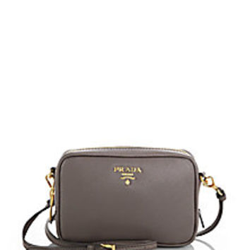 Prada - Mini Saffiano Camera Crossbody Bag - Saks Fifth Avenue Mobile