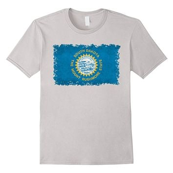 South Dakota State Flag T-Shirt in Vintage Retro Style