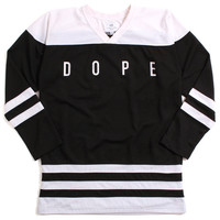 Distressed Hockey Jersey Black / White