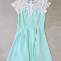 Mint Lace Back Party Dress [7307] - $29.40 : Feminine, Bohemian, & Vintage Inspired Clothing at Affordable Prices, deloom