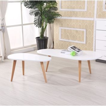 Amelia Modern Free Form Wood 2-piece Mid-century Style Coffee Table Set | Overstock.com Shopping - The Best Deals on Coffee, Sofa & End Tables