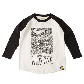 Wild One Long Sleeve T-Shirt Cream | Boys T-Shirts, Shirts & Tops | Rock Your Baby