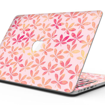 The Pink and Orange Watercolor Clovers - MacBook Pro with Retina Display Full-Coverage Skin Kit
