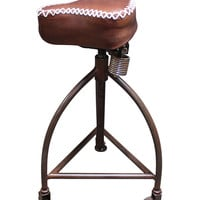Vintage Addiction Wheeled Cycle Decorative Leather Indoor Barstool | zulily
