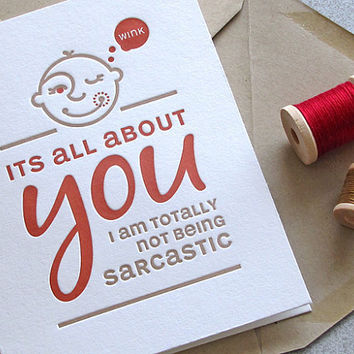 It's All About You Funny Quote Typography by sweetharvey on Etsy