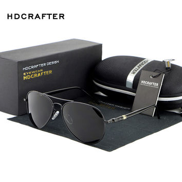 HDCRAFTER Polarized Pilot sunglasses men brand designer Sports Sun Glasses Driving Glasses Mirror Goggle Eyewear gafas de sol