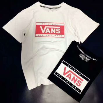 VANS Fashion Print Quick-drying Casual Short Sleeve Shirt Top Tee Blouse G-A-XYCL