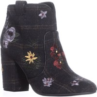 Indigo Rd. Juke Block Heel Booties, Black Multi, 9.5 US