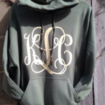 Monogram Hoodie, Vinyl, Youth & Adult