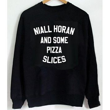 DCCKJ1A English letters crew neck sweater NIALL HORAN