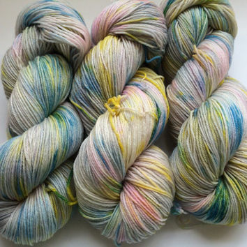 MCN, Pampered Sock, 100 grams, Color, Gloomy Spring Afternoon, Hand Dyed yarn, cashmere, nylon, superwash merino, sock yarn