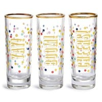 Slant Collections 'Yay, Boom, Cheers' Shot Glasses (Set of 3) | Nordstrom