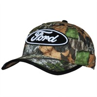 Ford - Oval Logo Camo Adjustable Cap