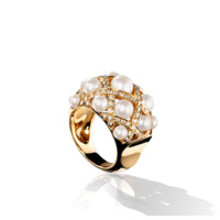 Première Ring in 18K white gold and diamonds - CHANEL