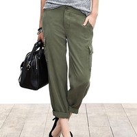 Banana Republic Womens Drapey Cargo Pant