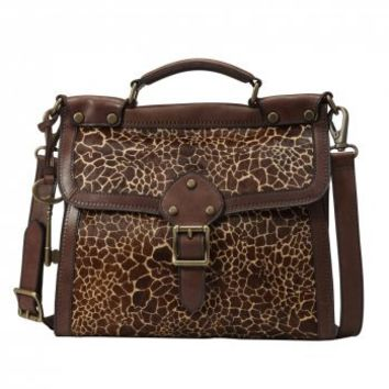 FOSSIL - ZB5433 Vintage Revival Giraffe Print Leather Flap Bag - Buy Fossil Bags & Accessories Online