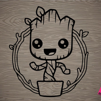 dancing groot vinyl decal sticker, free shipping!