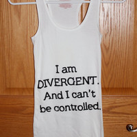 Divergent Inspired Tank Top with 5 Factions on the Back.