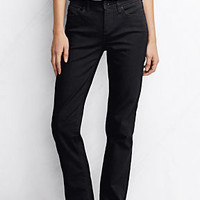 Women's Mid Rise Straight Leg Jeans from Lands' End