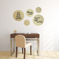Dry Erase Dot Decals Gold