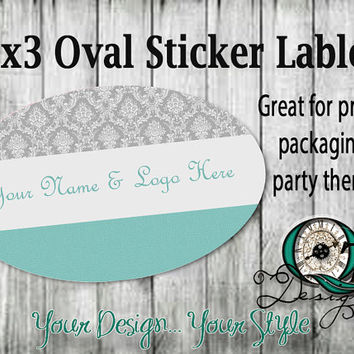 Custom Large Oval 5x3 Product Sticker Labels Thank you Notes Envelope stickers graphic design stickers personalized customized Quality