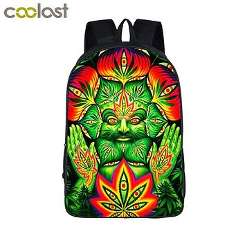 Girls bookbag Smoke Weeds Leaf Backpack Men Women Street Hip Hop Bag Preppy Style Boys Girls School Bags Hipster Hiphop Backpack Bookbag AT_52_3
