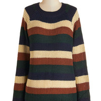 ModCloth Mid-length Long Sleeve Happy Trails Sweater