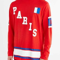 Byproduct Paris Long-Sleeve Tee- Red