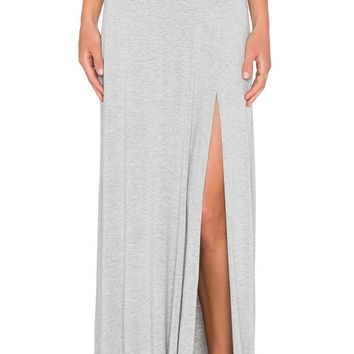 Gray Knit Maxi Skirt