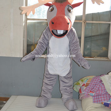 Frozen Snow Sven Reindeer Animal Costume,Cartoon Costumes,Cosplay Costumes,Costumes for Adults,Halloween Christmas Costumes,Costume Party