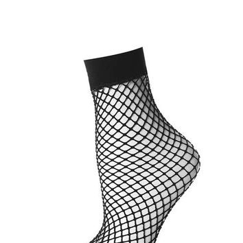 Fishnet Ankle Sock - Socks & Tights - Bags & Accessories