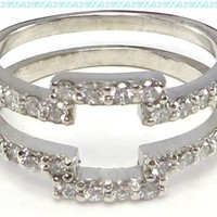 .50 ctw Diamond Ring Wrap Guard Enhancer Insert 14k white gold