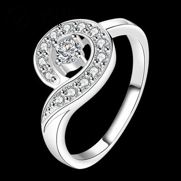 Silver plated wedding rings