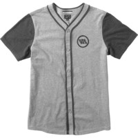 RVCA Opening Day Shirt - Short-Sleeve - Men's Grey Noise,