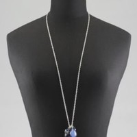 New York & Company - Necklaces - Long Faceted Teardrop Necklace
