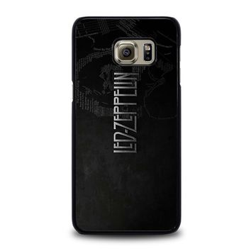 led zeppelin lyric samsung galaxy s6 edge plus case cover  number 1