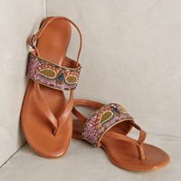 Deepa Gurnani Winged Sandals Brown